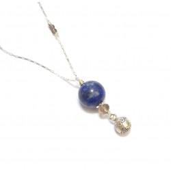 Bijoux de grossesse, Sautoir Bola - Argent 925 et Pierres Naturelles, Lapis-Lazuli