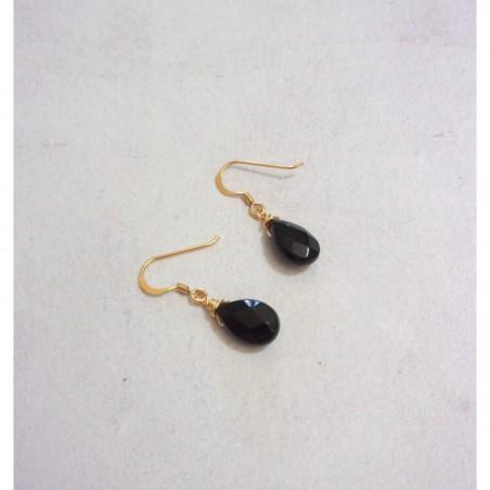 Boucles d'oreille Pierres Fines - Onyx Noir
