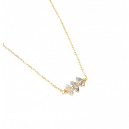 Collier Pierres Brutes - Quartz Diamant