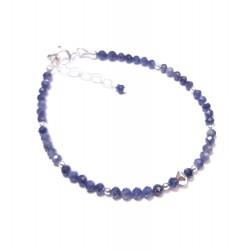 Bracelet Saphir - Pierres Fines et Argent 925