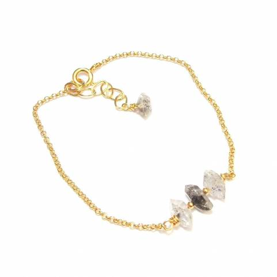 Bracelet Pierres Brutes - Quartz Diamant