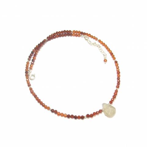 Collier Grenat Hessonite et...