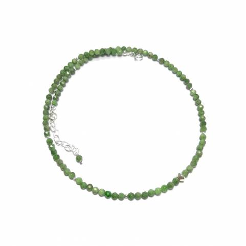 Collier Diopside Argent 925...