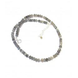 Collier Labradorite, Pierres Fines et Argent 925