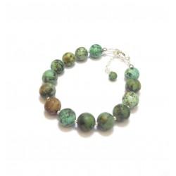 Bracelet Ethnique Turquoise Verte